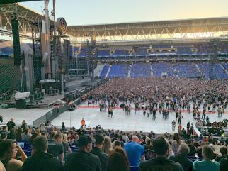 The stadium in Barcelona, right before concert 2019