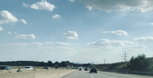 A5 nach Süden - Richtung City