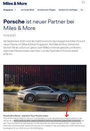 Dieses Jahr in Deutschland Porsche fahren und nächstes Jahr wieder fliegen