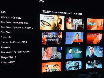 Auswahl an Star Trek bei Netflix